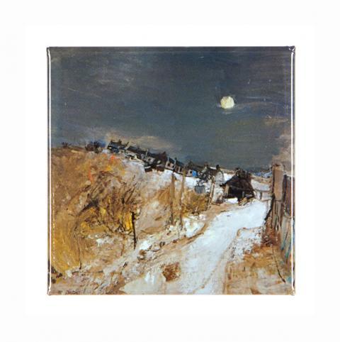 Catterline in Winter Joan Eardley Magnet