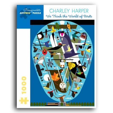 Charley Harper: The World of Birds jigsaw puzzle (1000 pieces)