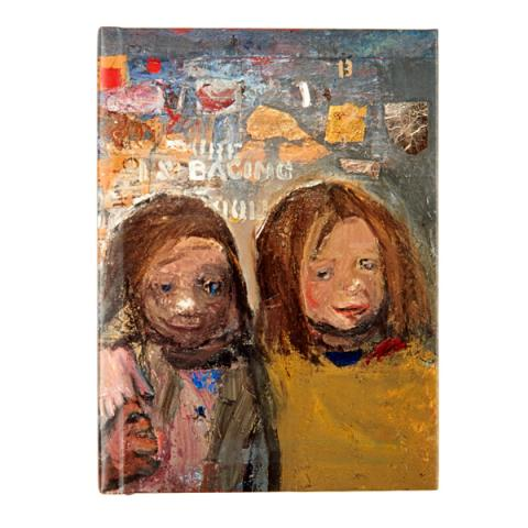 Children and Chalked Wall 3 by Joan Eardley A6 notebook
