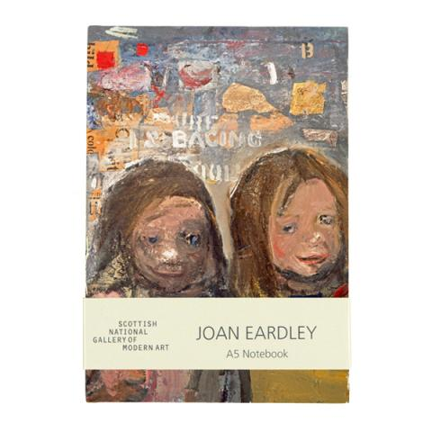 Children and Chalked Wall 3 by Joan Eardley A5 hardback lined notebook