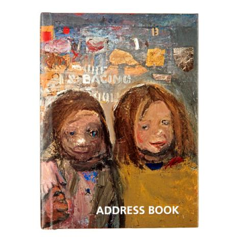 Children and Chalked Wall 3 Joan Eardley A6 Address Book