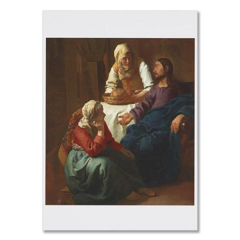 Christ in the House of Martha and Mary by Johannes Vermeer greeting card