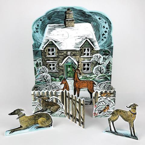 Christmas cottage advent calendar