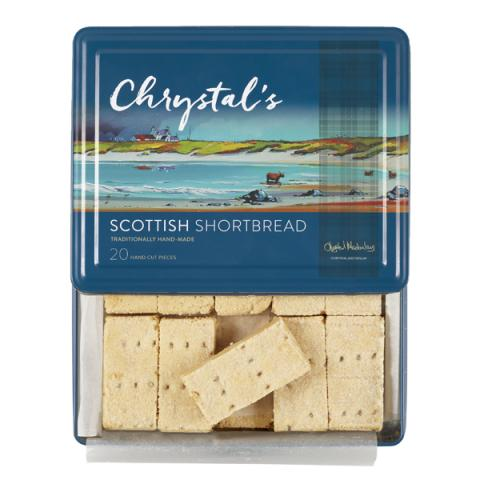 Chrystal's handmade Scottish shortbread (475g tin)