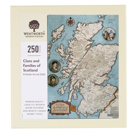 Clans and Families of Scotland wooden jigsaw puzzle (250 pieces)