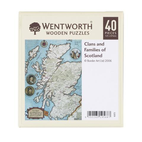 Clans and families of Scotland wooden jigsaw puzzle (40 pieces)