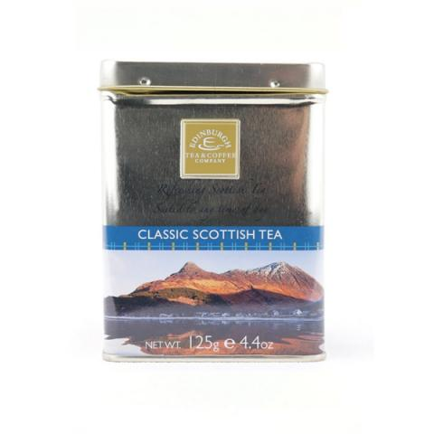 Classic Scottish tea re-usable caddy