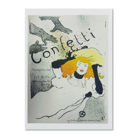 Confetti by Henri de Toulouse-Lautrec A6 postcard