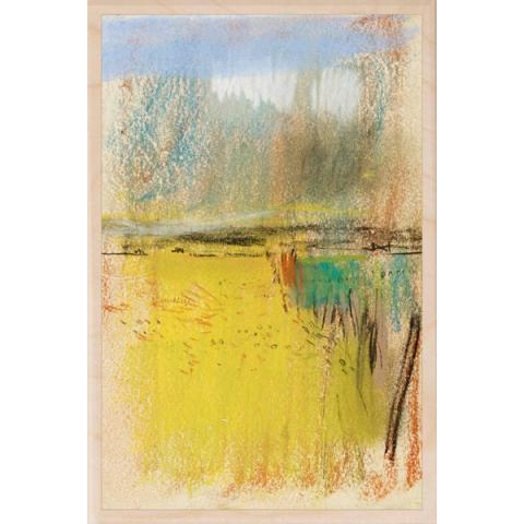 Cornfield and Wide Horizon Joan Eardley Wooden Postcard