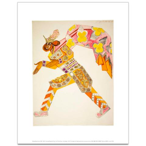 Costume Design for One of the Three Kings in 'La Liturgie' by Natalia Goncharova art print