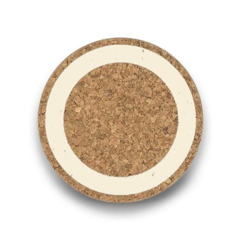 Cream earth cork coaster