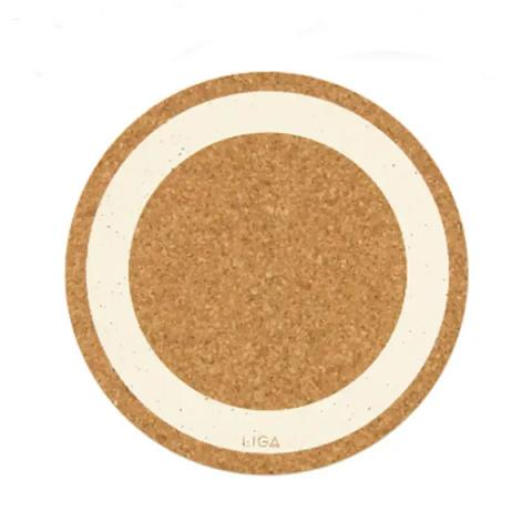 Cream earth cork placemat