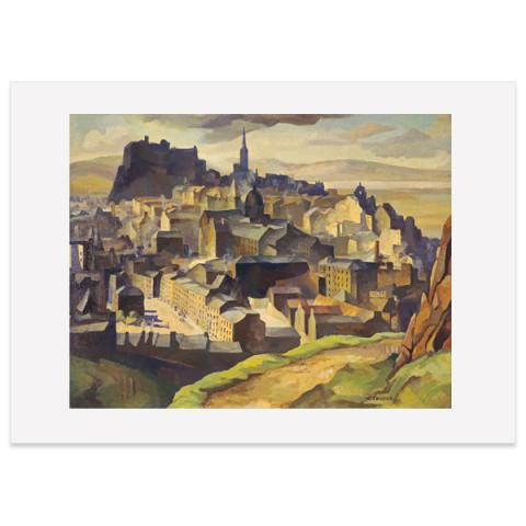 Edinburgh (from Salisbury Crags) by William Crozier poster print