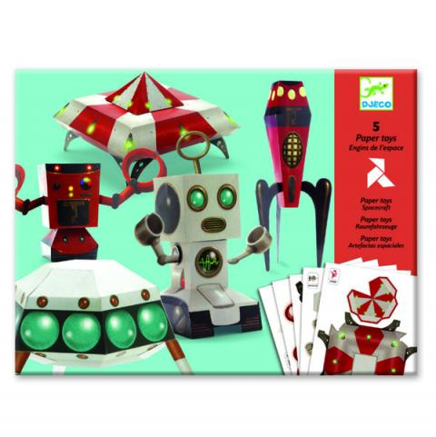 Djeco Paper Toys Spacecraft Kit
