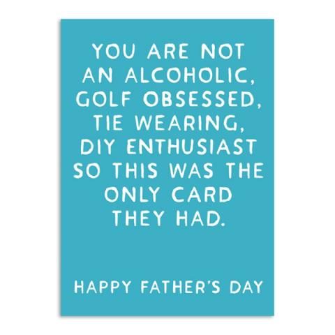 Dad 'alcohol' greeting card
