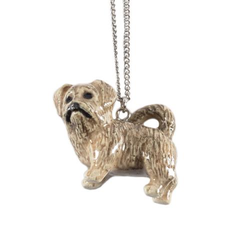 Dandie Dinmont 'Callum' porcelain necklace