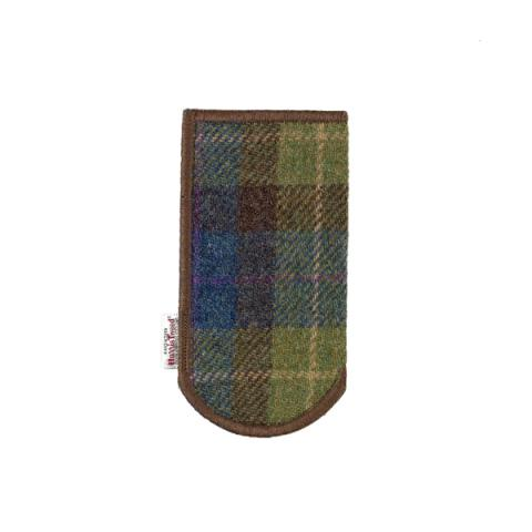 Clare O'Neill Glasses Case Dark Harris Tweed
