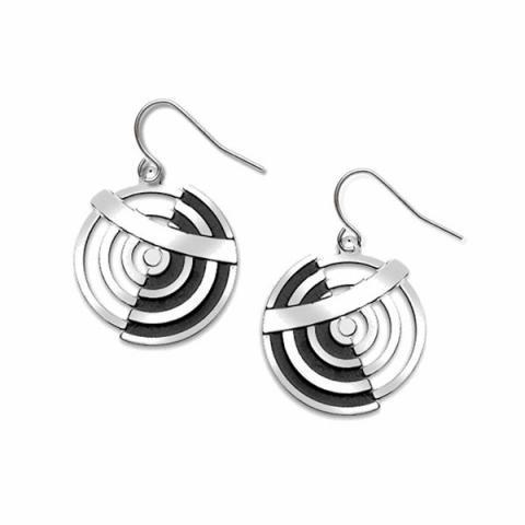 Delaunay inspired circular earrings