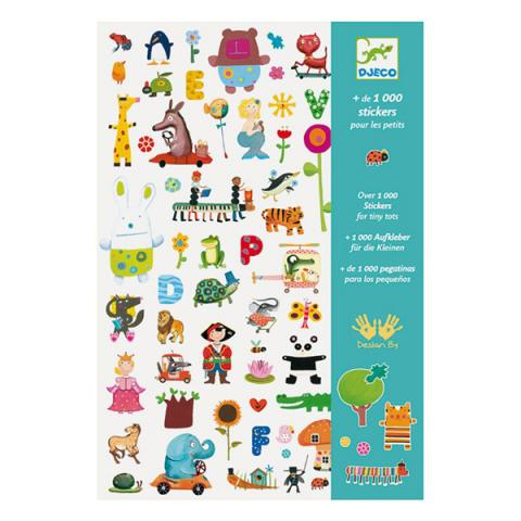Pack of 1000 stickers for the little ones