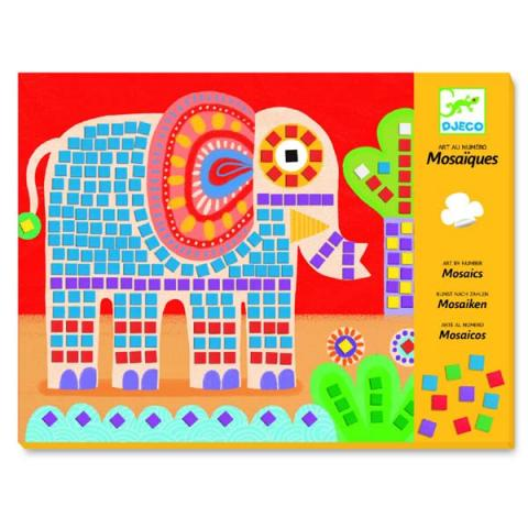 Djeco Elephant and Snail Mosaic Art Set