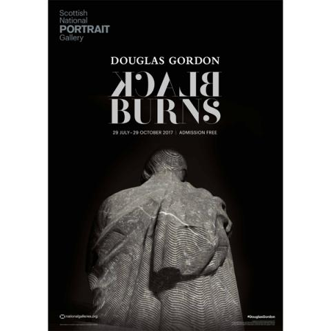 Douglas Gordon | Black Burns Exhibition Poster