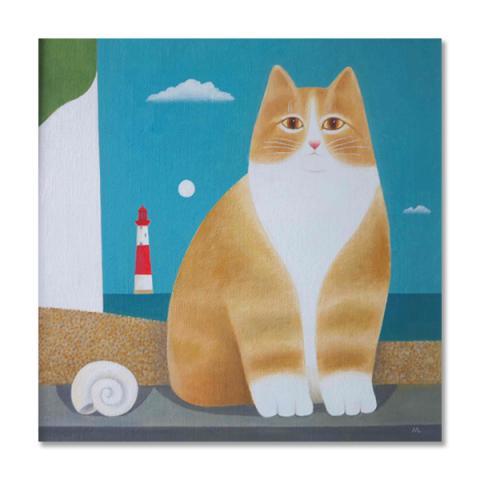 Beachy Head (cat) greeting card