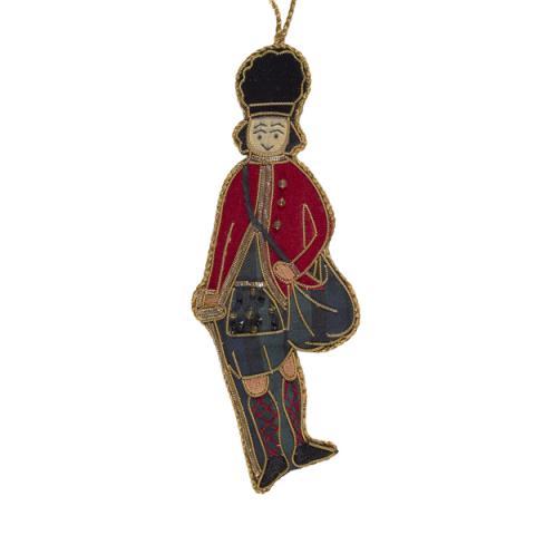 Earl of Eglinton tartan beaded fabric Christmas decoration
