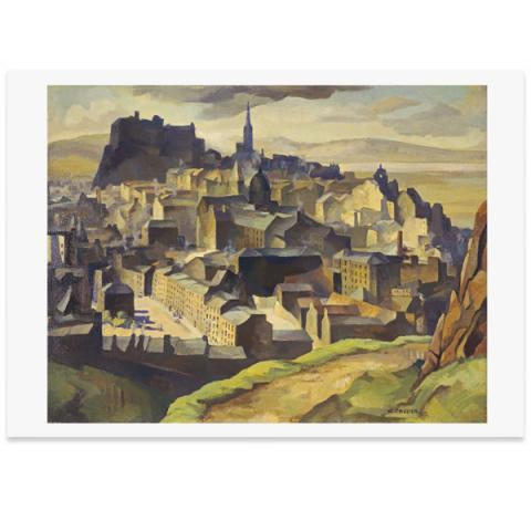 Edinburgh (from Salisbury Crags) by William Crozier A3 poster print