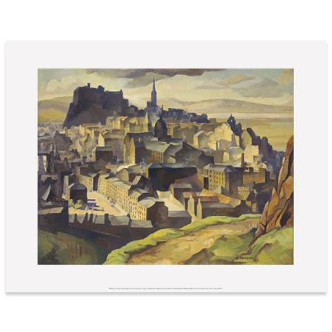 Edinburgh (from Salisbury Crags) by William Crozier art print