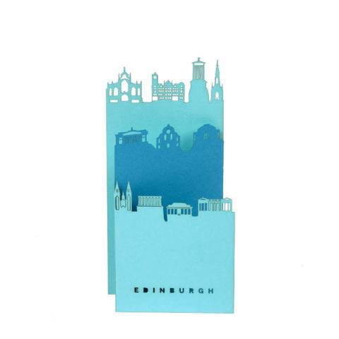Edinburgh Three Layer Greeting Card