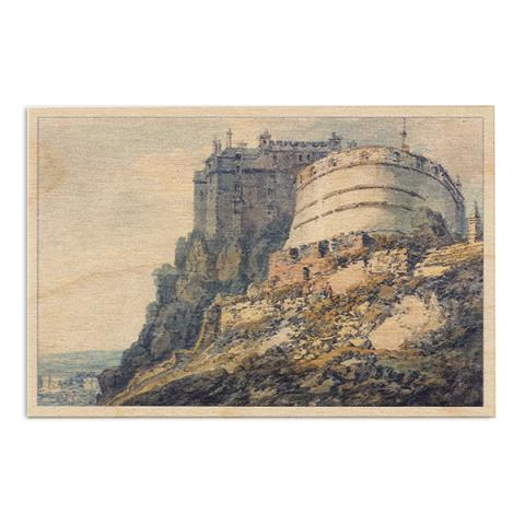 Edinburgh Castle by Joseph Mallord William Turner wooden postcard
