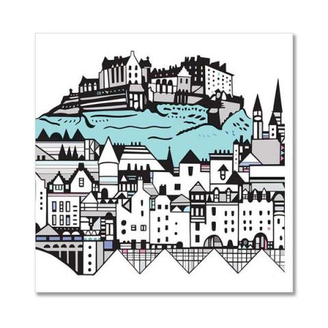 Edinburgh Castle skyline greeting card