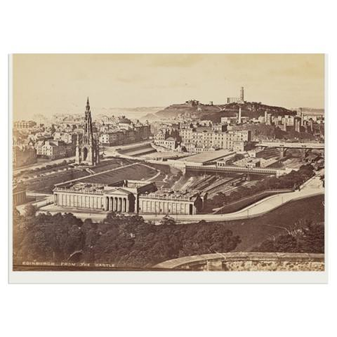Edinburgh from the Castle greeting card