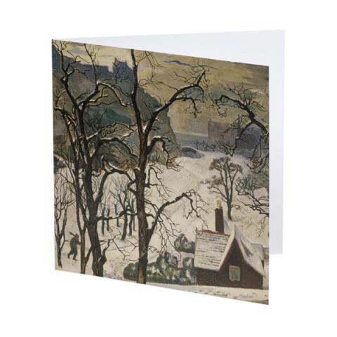 Edinburgh In Snow William Crozier Christmas Card Pack 10 Cards