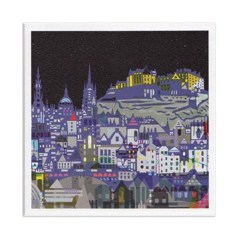 Edinburgh nights greeting card