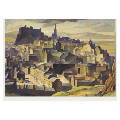 Edinburgh (from Salisbury Crags) by William Crozier greeting card