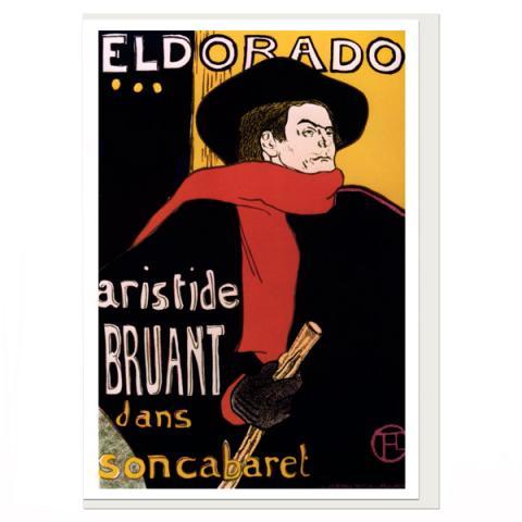 El Dorado by Toulouse-Lautrec greeting card
