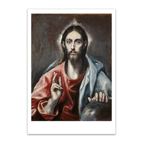 Christ Blessing ('The Saviour of the World') by El Greco postcard