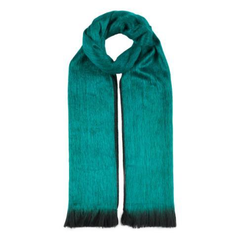 Emerald green alpaca scarf