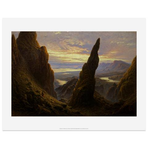 Entrance to the Cuiraing Skye by Waller Hugh Paton art print