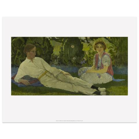 Eric Robertson with Mary Newbery by Cecile Walton art print