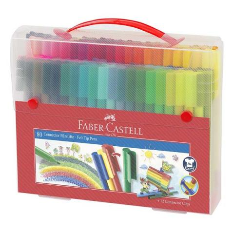 Faber-Castell Connector Fibre-tip Pen Box of 60