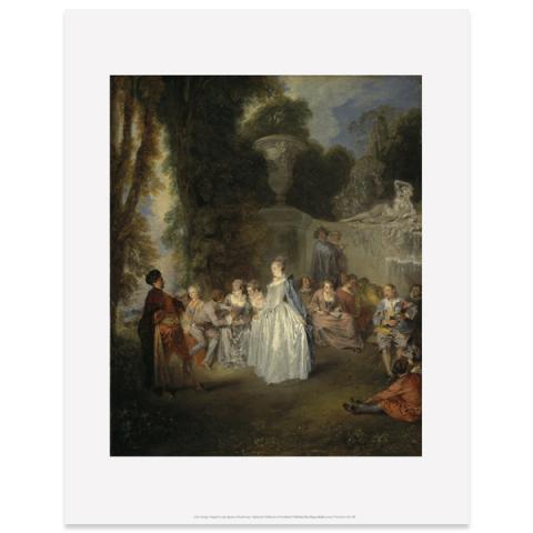 Fetes Venitiennes by Jean-Antoine Watteau art print
