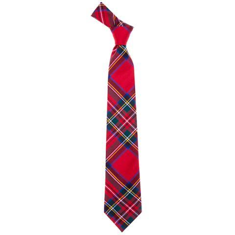 Fine wool Royal Stewart red tartan tie
