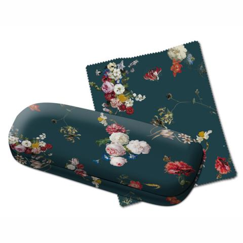 Dutch Floral Still Life Glasses Case With Lens Cloth