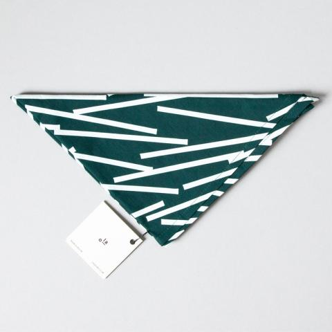 Forest green geometric reusable organic cotton gift wrap