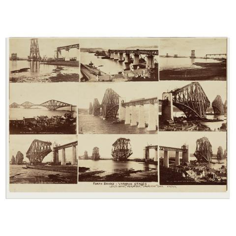 Forth Bridge - Various Stages by John Patrick greeting card
