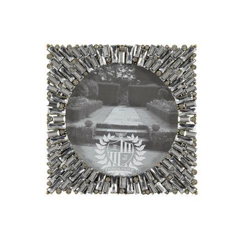 Decorative jewelled 'Aurora' square photograph frame (12.5 x 12.5 cm)