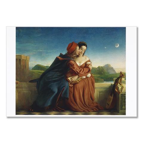 Francesca da Rimini by William Dyce greeting card