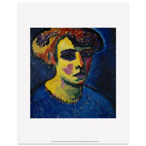 Frauenkopf [Head of a Woman] by Alexej von Jawlensky art print